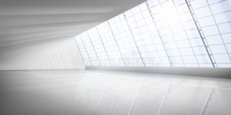 Empty interior. Illuminating sun rays. Vector illustration. vector illustration