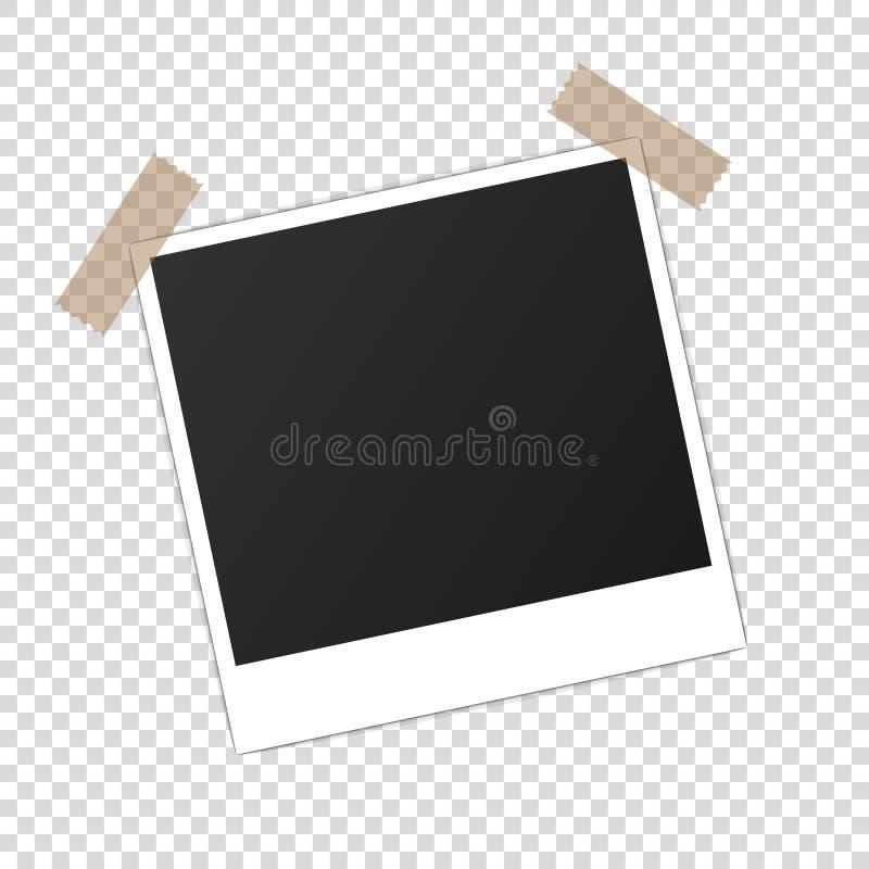 Drukowany fotografii papierowego mockup photoframe realistyczny wektor ilustracji