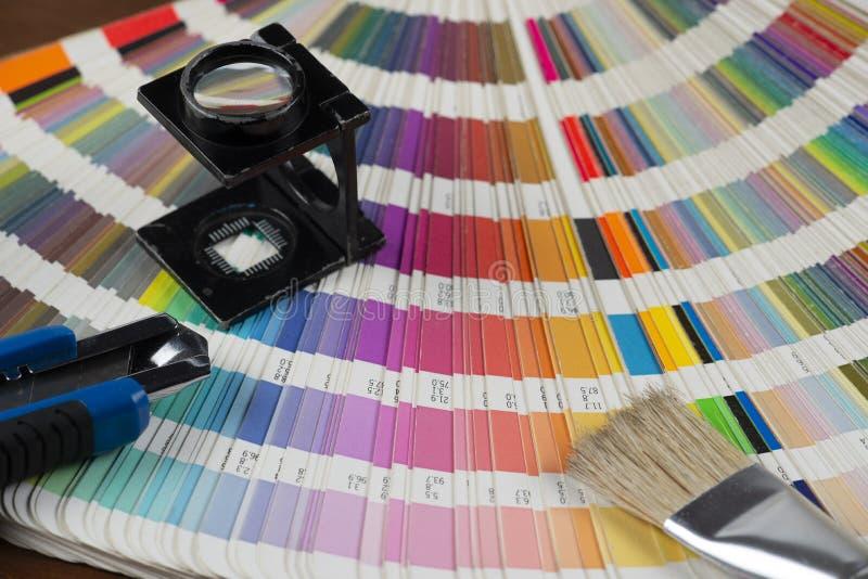 drukowany koloru swatch obrazy royalty free