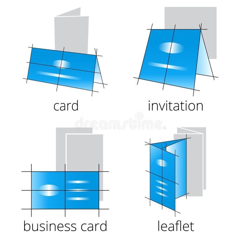 Drukowy sklep usługuje błękitne ikony ustawiać Część 2 obrazy royalty free