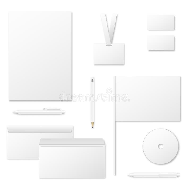 Drukowych materiałów wektorowy szablon dla korporacyjnej tożsamości ilustracja wektor