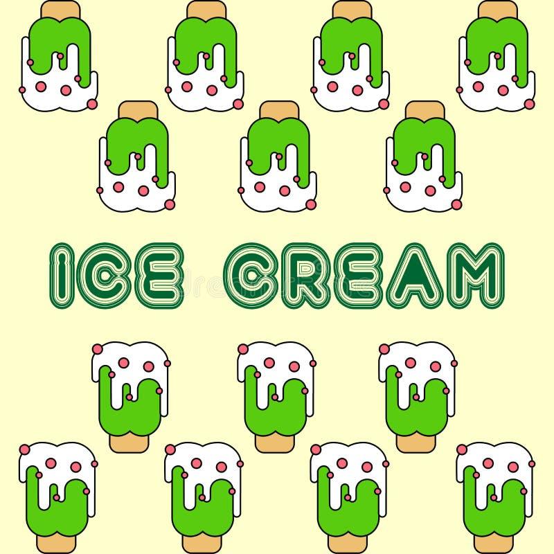 Druku lody zieleni wzoru wektor ilustracja wektor
