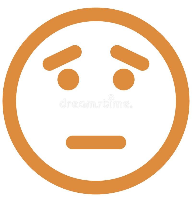 Drukuje Emoticon, emoticons Wektorowa Odosobniona ikona która może łatwo redagować lub modyfikować ilustracja wektor