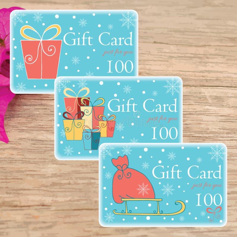 Drukuje twój swój Śliczne prezent etykietki i kartki bożonarodzeniowa royalty ilustracja
