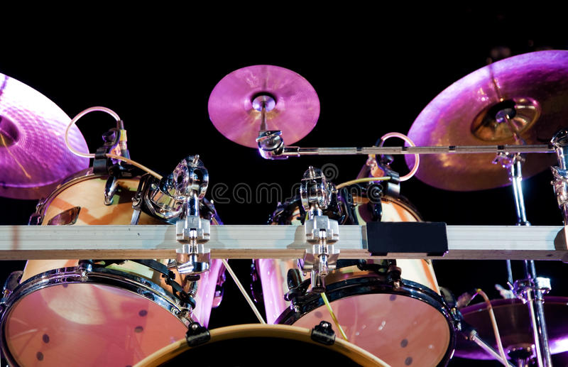 Drum. Close up image of drum on stage royalty free stock photos