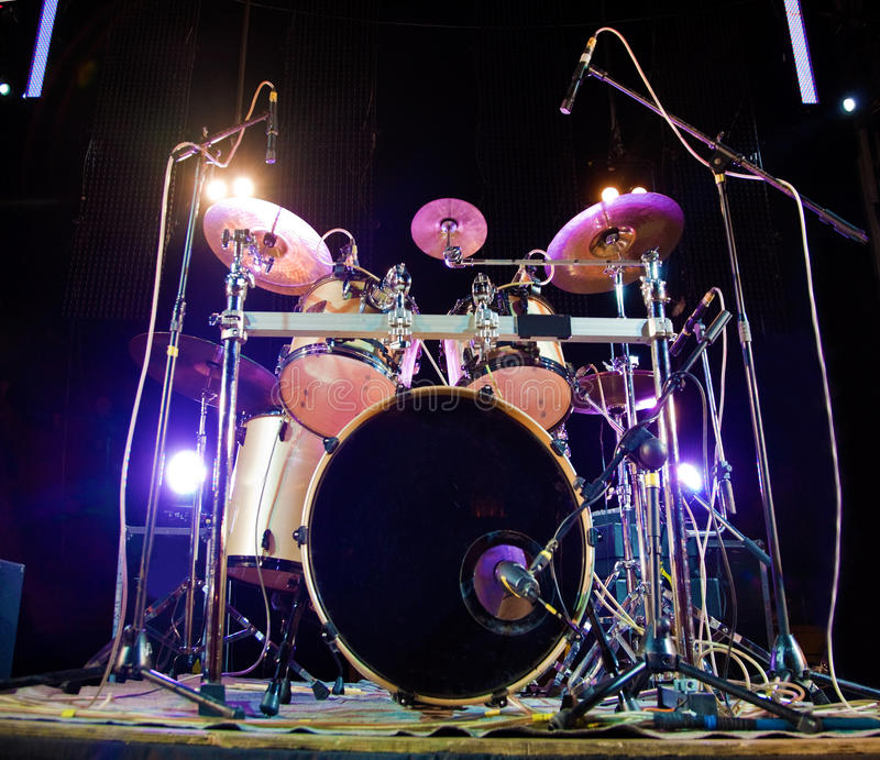 Drum. Image of drum on stage stock images