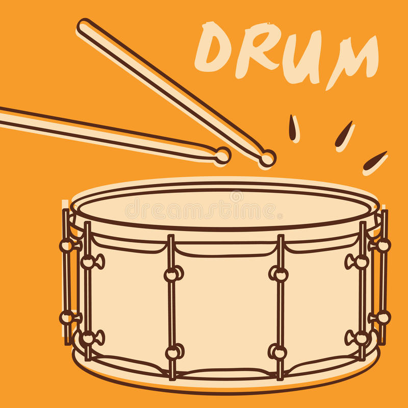 Download Drum vector stock vector. Image of play, solo, musicians - 24634773