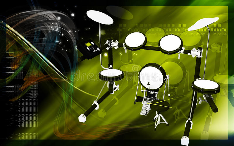 Download Drum stock illustration. Image of drummer, music, stage - 25772133