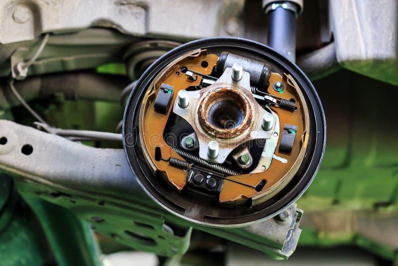 Download Drum brake of a car stock photo. Image of brake, indoors - 34122116