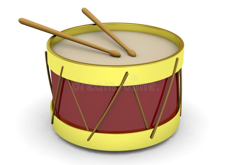Drum - 3D stock illustration