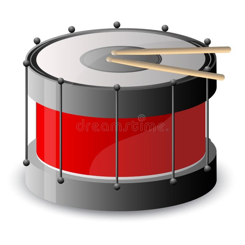 Download Drum with drumstick stock vector. Image of instrument - 20609711