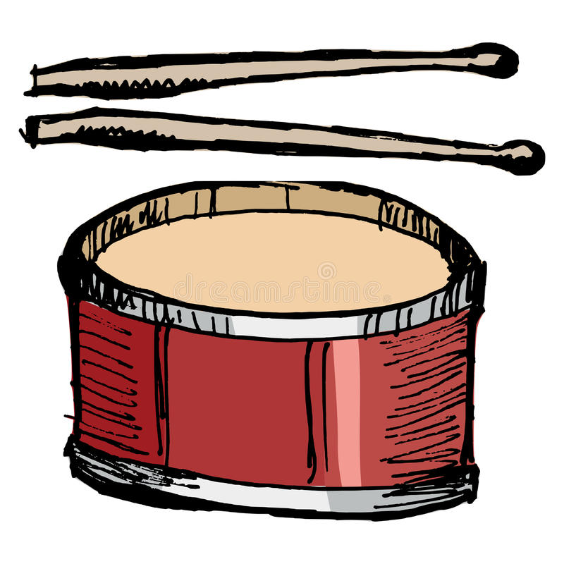 Download Drum with drumsticks stock vector. Image of parade, musical - 32996244