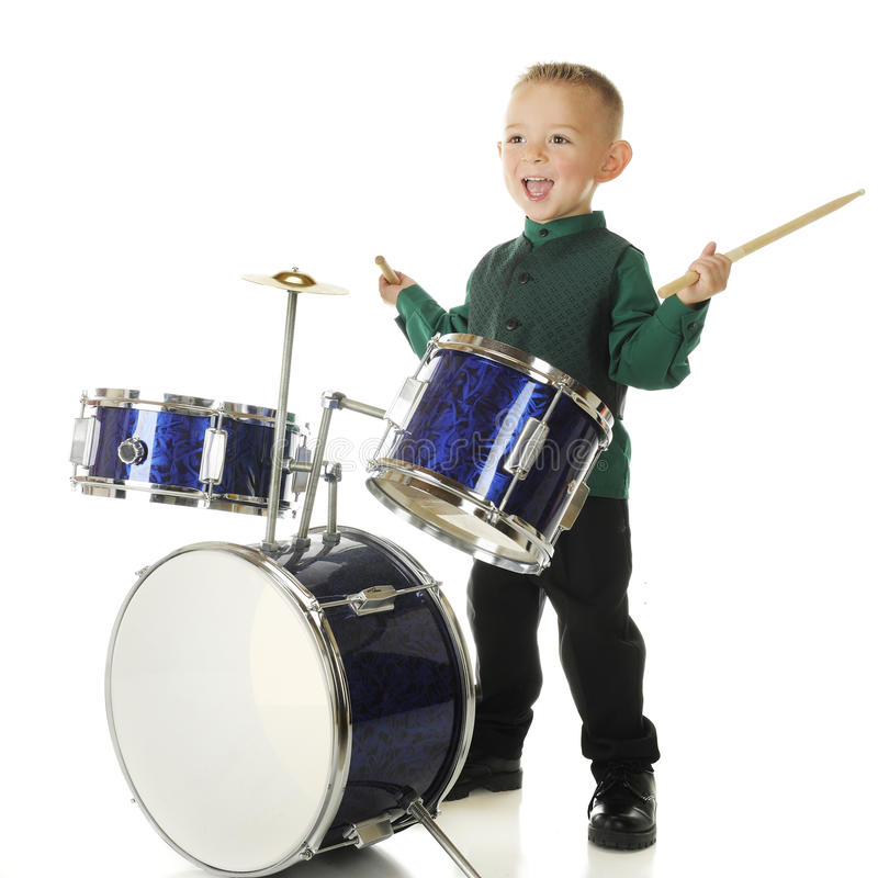 Free Drum Happy Royalty Free Stock Photo - 26511105