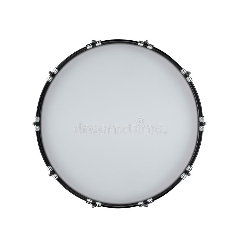 Drum isolated on white stock images