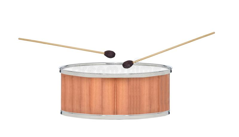 Drum isolated on white royalty free stock photo