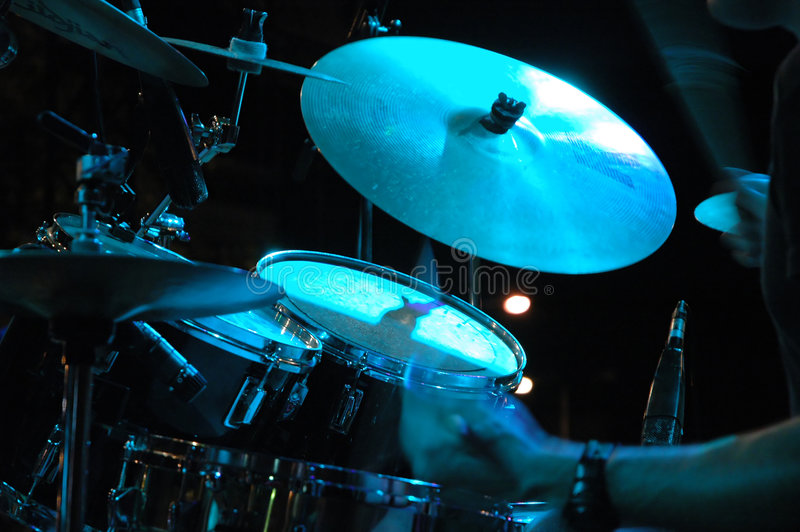 Drum Kit. On the stage stock images