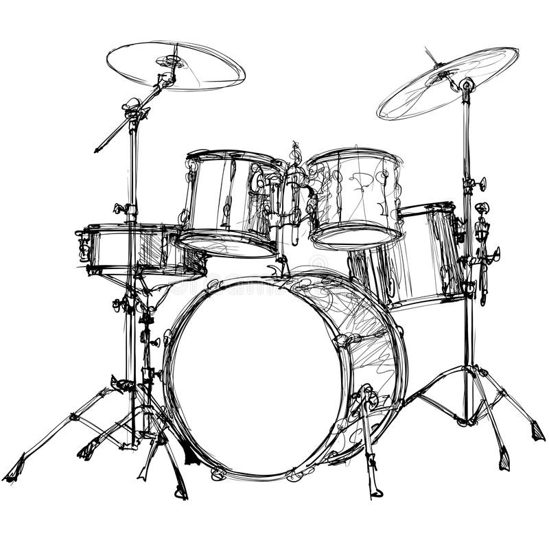 Download Drum Kit Stock Vector Illustration Of Musical Cymbal