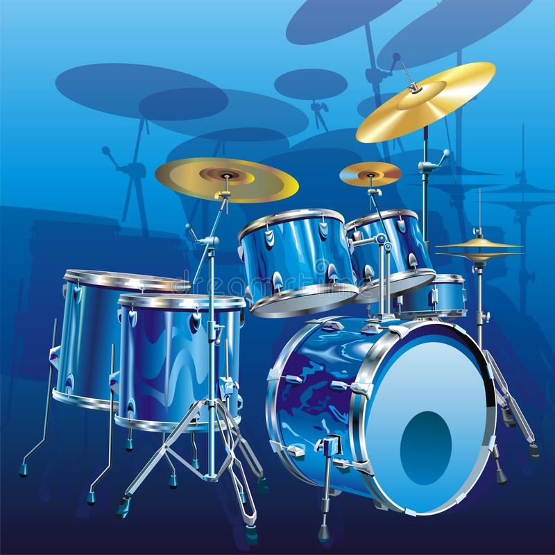 Download Drum kit stock vector. Image of composition, decorative - 9890922