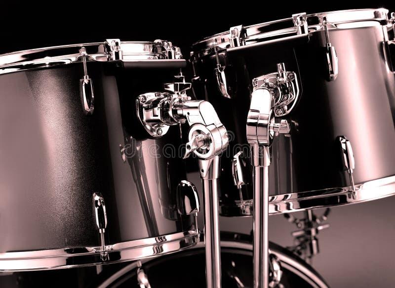 Drum-kit closeup royalty free stock image