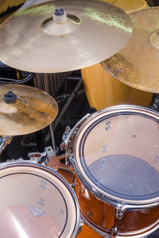 Drum kit full frame royalty free stock photo
