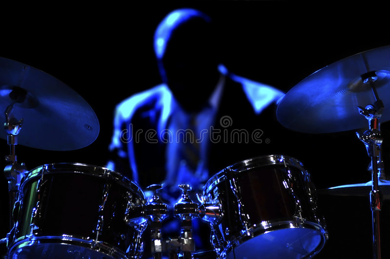 Drum Kit on the stage royalty free stock images