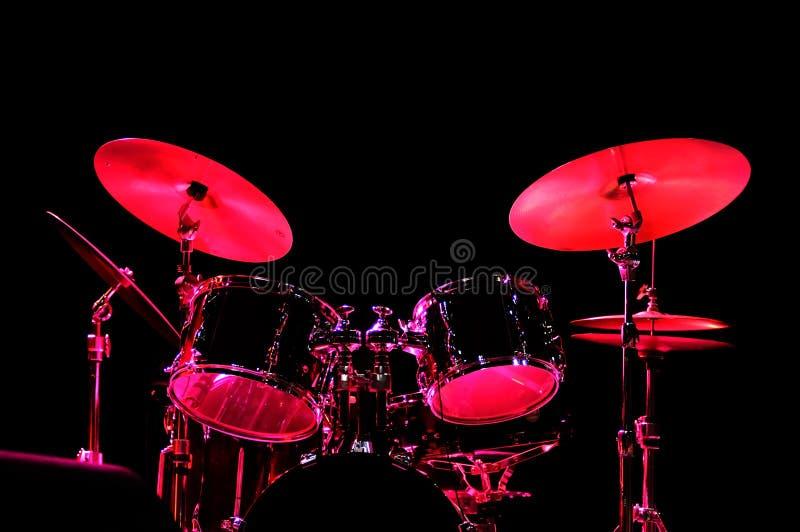 drum kit stage στοκ φωτογραφία με δικαίωμα ελεύθερης χρήσης