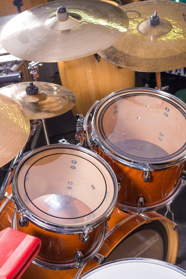 Drum kit still life royalty free stock photos