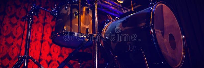 Drum kit in studio. Drum kit in recording studio stock photography