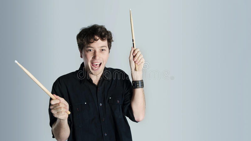 Drum lessons royalty free stock photography
