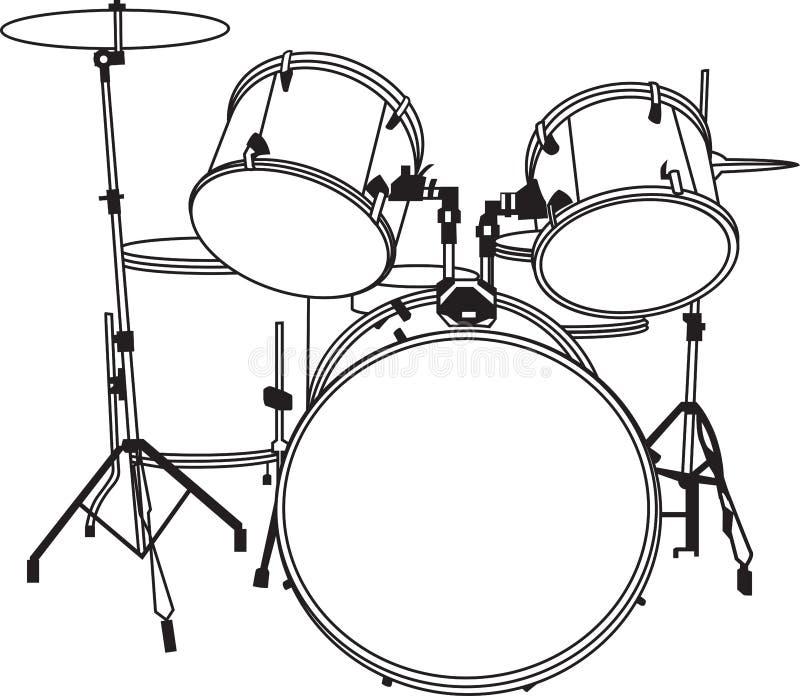 Drum_music_sound_full_vector foto de stock