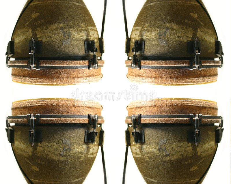 Drum pattern. Pattern made from congo drum royalty free stock photo
