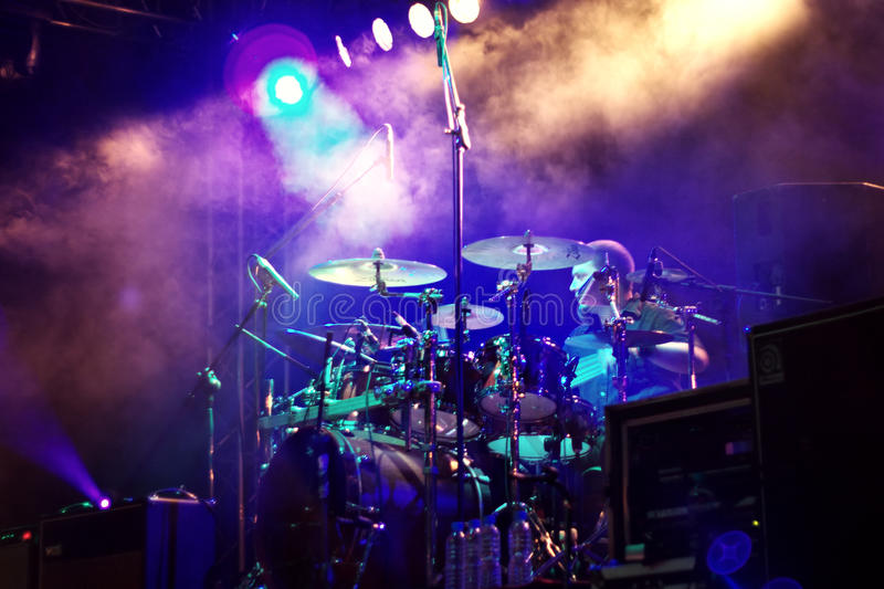 Drum Player Editorial Stock Image