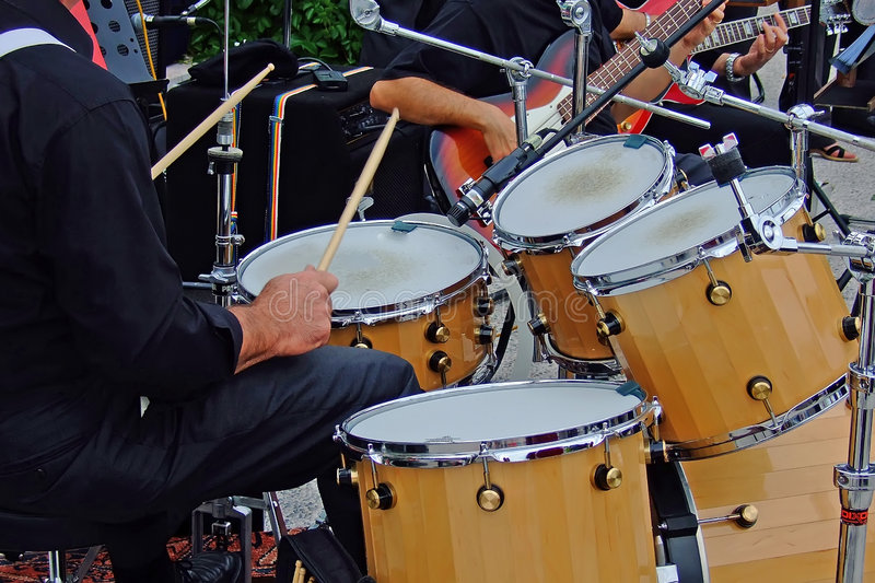 Download Drum player stock image. Image of italy, blues, music - 2543517