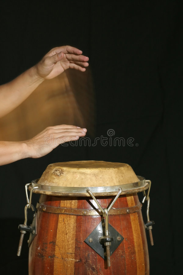 Drum player stock photography