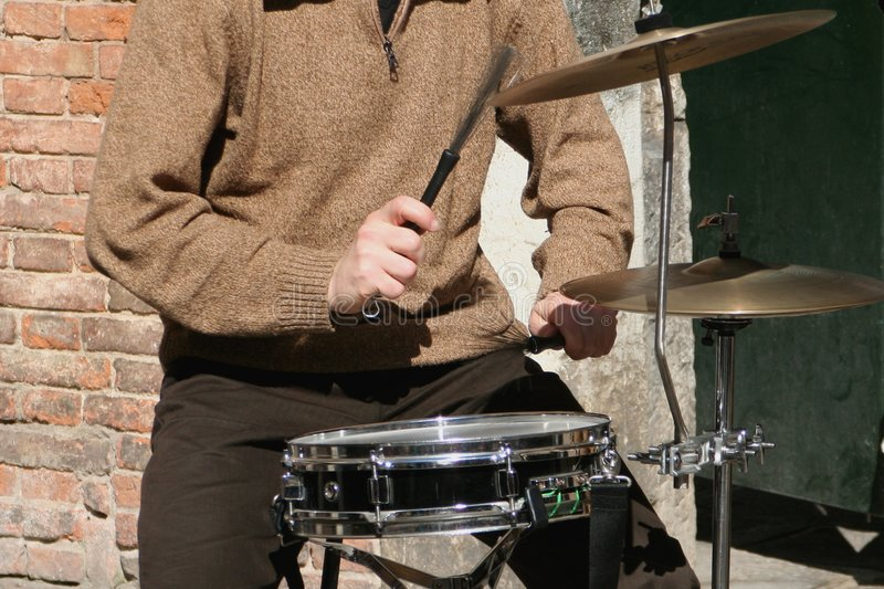 Download Drum player stock image. Image of player, bass, play, rock - 587929
