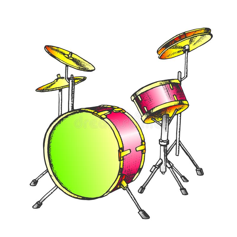 Drum Rhythm Musical Instrument Color Vector stock images