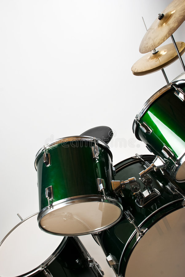 Drum set. Part of a drum set with cymbal isolated on white background,check also royalty free stock photography