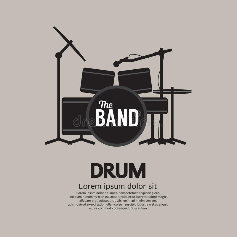 Drum Set Music Instrument royalty free illustration
