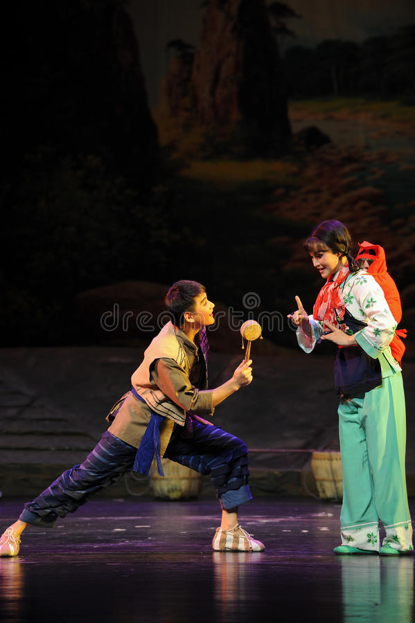 Drum-shaped rattle- Jiangxi opera a steelyard. Jiangxi opera a steelyard is adapted from a true story: the last century fortys, the protagonists father runs an royalty free stock photography