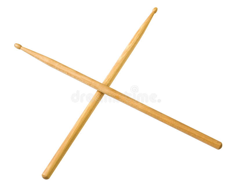 Drum sticks do from wood stock images