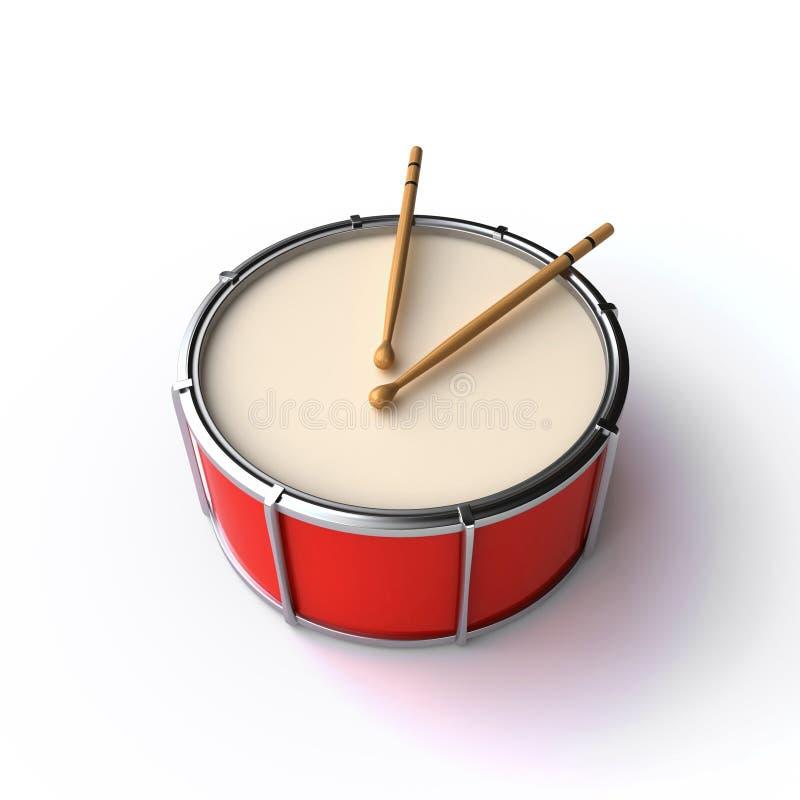 Download Drum and sticks stock illustration. Image of render, musical - 34702801