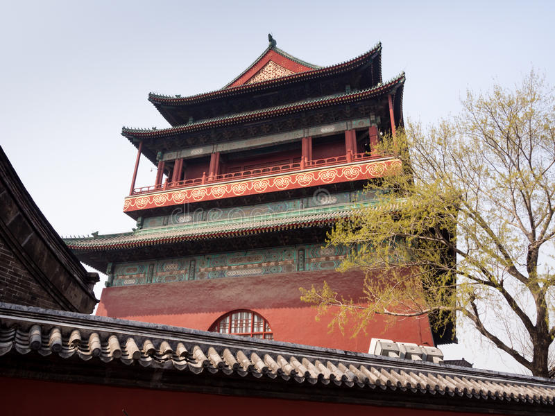 Download Drum Tower in Beijing stock photo. Image of traditional - 83724402