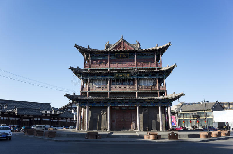 The Drum Tower of Datong royalty free stock images