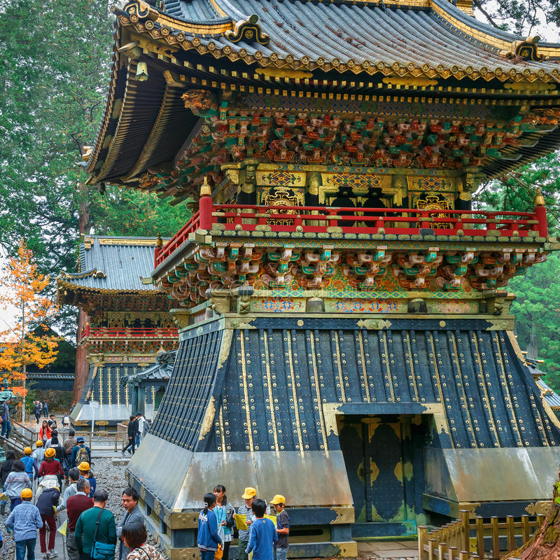 Drum Tower(Koro) at Tosho-gu shrine in Nikko, Japan stock photo