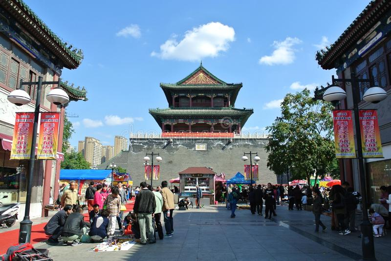 Drum Tower in Tianjin City stock photography