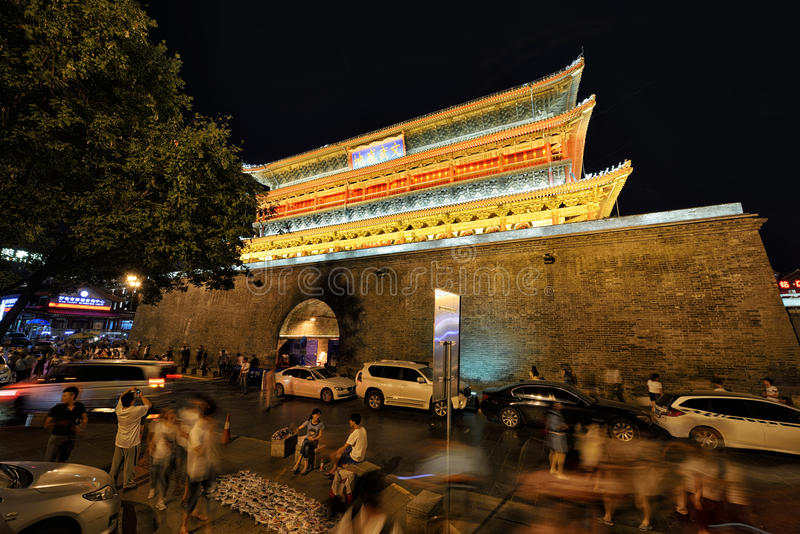 Drum tower of Xi'an royalty free stock photo