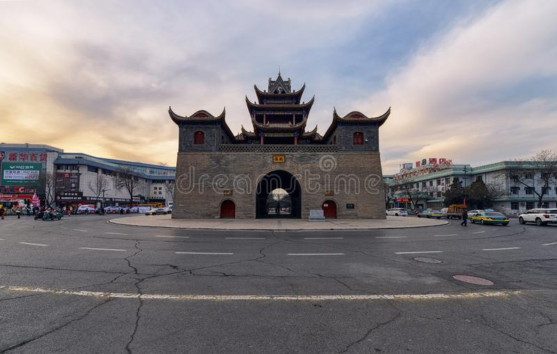 Drum Tower of Yinchuan royalty free stock photos