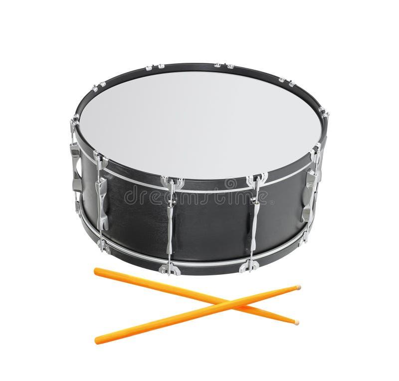 Drum on white background stock photos