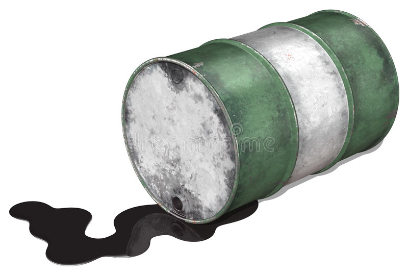 drum wyciek ropy naftowej ilustracji
