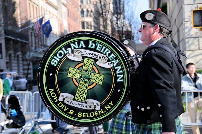 Drumer irlandês imagem de stock